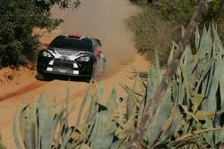 Kimi Raikkonen and Kaj Lindstrom, Citroen DS3 WRC, ICE 1 Racing