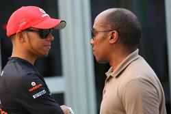 Lewis Hamilton, McLaren Mercedes en Anthony Hamilton, vader Lewis Hamilton