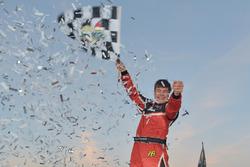 Race winner Cayden Lapcevich