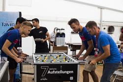 Luca Ghiotto, Trident; Philo Paz Armand, Trident; GP3-Fahrer Artur Janosz, Trident