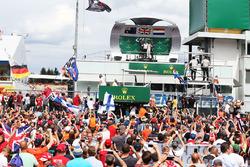 Podium: winner Lewis Hamilton, Mercedes AMG F1, second place Daniel Ricciardo, Red Bull Racing, third place Max Verstappen, Red Bull Racing