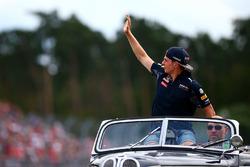 Max Verstappen, Red Bull Racing, tijdens de rijdersparade