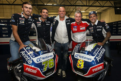 Loris Baz and Hector Barbera, Avintia Racing, Ducati with the team