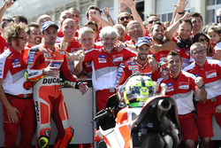 Race winner Andrea Iannone, Ducati Team, second place Andrea Dovizioso, Ducati Team