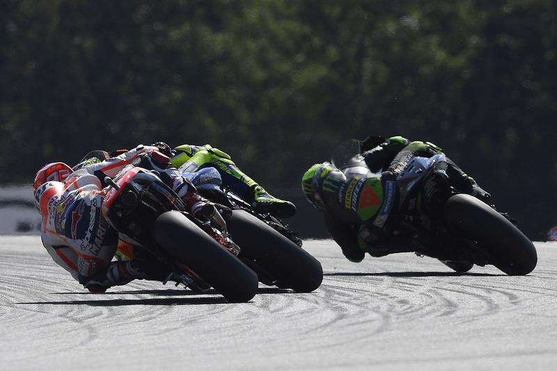Марк Маркес, Repsol Honda Team, Валентино Россі, Yamaha Factory Racing, Пол Еспаргаро, Tech 3 Yamaha