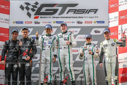 Podium: race winners #8 Absolute Racing Bentley Continental GT3: Jonathan Venter, Keita Sawa, second place #55 FFF Racing Lamborghini Huracan GT3: Edoardo Liberati, Andrea Amici, third place #9 Absolute Racing Bentley Continental GT3: Vutthikorn Inthraphuvasak, Duncan Tappy