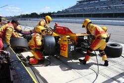 Boxenstopp: Ryan Hunter-Reay, Andretti Autosport, Honda