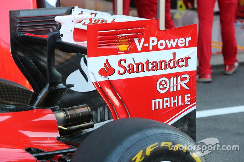 Ferrari SF16-H, achtervleugel op zaterdag