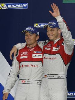 Segundo lugar #7 Audi Sport Team Joest Audi R18: Marcel Fässler, Andre Lotterer