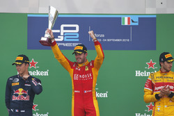 Podium: Norman Nato, Racing Engineering; Pierre Gasly, PREMA Racing and Antonio Giovinazzi, PREMA Racing