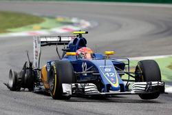 Felipe Nasr, Sauber C35 con un pinchazo