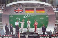 Podium (L to R): second place Lewis Hamilton, Mercedes AMG F1; Race winner Nico Rosberg, Mercedes AMG F1; third place Sebastian Vettel, Ferrari