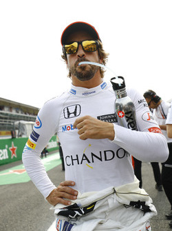 Fernando Alonso, McLaren on the grid
