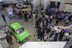 Patrick Simon, Paul Schmuck, Anton Stock, Rainer Braun ''50 yıllık heyecan - Volkwagen Motorsport'' açılış töreninde