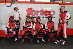 Fortec Motorsports garage atmosphere