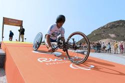 Alex Zanardi op de Paralympische Spelen in Rio de Janeiro