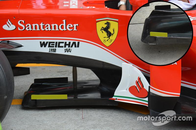 Ferrari SF16-H, paratia del T-Tray