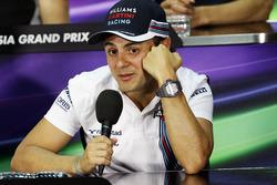 Felipe Massa, Williams in der FIA Pressekonferenz