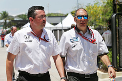 (L to R): Eric Boullier, McLaren Racing Director with Bruno Michel, GP2 CEO