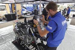 Yamaha mechanic at work