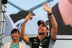 Sergio Pérez, Sahara Force India F1 escenario con los fans