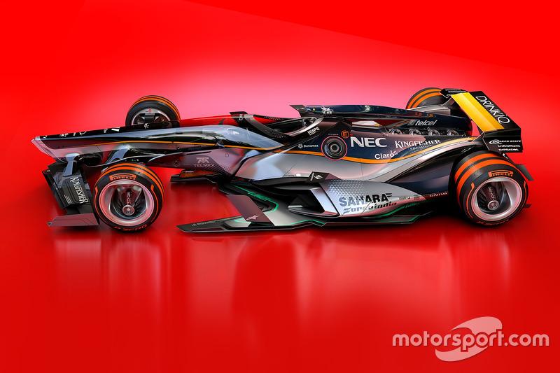 Force India 2030 diseño futurista