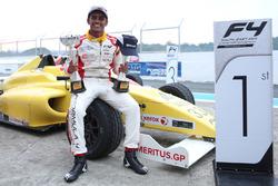 Race 1 and race 2 winner Akash Gowda