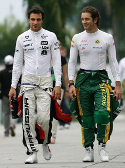 Jerome d'Ambrosio, Virgin Racing and Jarno Trulli, Team Lotus