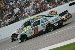 David Reutimann, Michael Waltrip Racing Toyota and Andy Lally, TRG Motorsports Ford