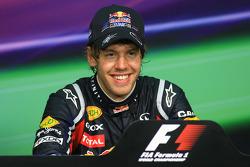 Post-race press conference: race winner Sebastian Vettel, Red Bull Racing