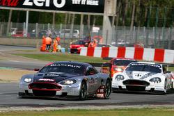 #4 Andrea Piccini, Christian Hohenadel; Aston Martin DB9; Hexis AMR; #7 Tomas Enge, Alex Muller; Aston Martin DB9; Young Driver AMR