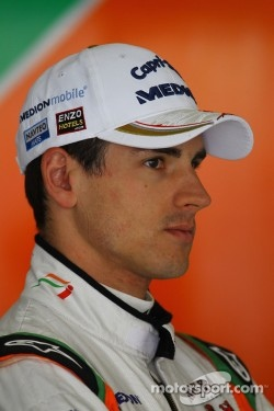Sutil had an incident with Perez