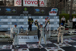 LMPC podium: champagne celebration