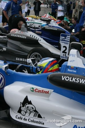 Carlin cars lined up