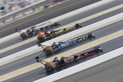 Larry Dixon, Tony Schumacher, Antron Brown and Del Worsham