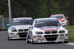 Franz Engstler, BMW 320 TC,  Liqui Moly Team Engstler leads Mehdi Bennani BMW 320 TC, Proteam Racing