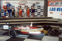 Carl Haas and Paul Newman join Sebastien Bourdais, Oriol Servia and Jimmy Vasser on podium