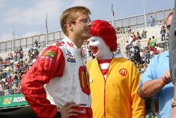 Sébastien Bourdais and Ronald McDonald
