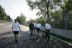 Track inspection for Sébastien Bourdais