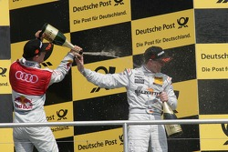 Podium: second place Mattias Ekstrom, Audi Sport Team Abt, Audi A4 DTM, third place Ralf Schumacher, Team HWA AMG Mercedes, AMG Mercedes C-Klasse