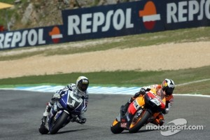 Dani Pedrosa leads Jorge Lorenzo