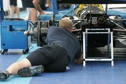 Forsythe Racing crew member at work