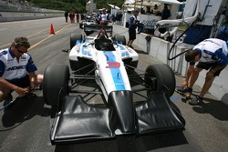 Forsythe Racing crew members prepare the car for qualifying