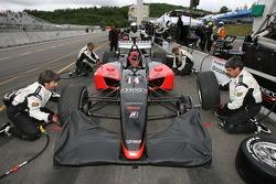 Minardi Team USA  crew members practice pitstops
