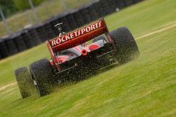 Alex Tagliani in the grass