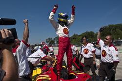 Polesitter Sébastien Bourdais celebrates