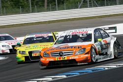 Ralf Schumacher, Team HWA AMG Mercedes C-Klasse, Martin Tomczyk, Audi Sport Team Phoenix Audi A4 DTM