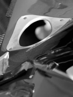Bodywork detail of the Minardi Team USA car of Dan Clarke