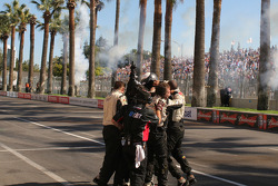 Minardi team celebrates