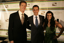 Paul Hospenthal, Helio Castroneves and Danica Patrick
